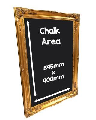 Antique Gold Frame Chalkboard